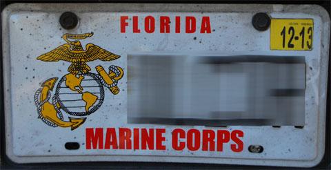 フロリダのナンバープレート