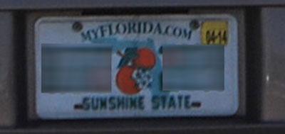 フロリダのライセンスプレート